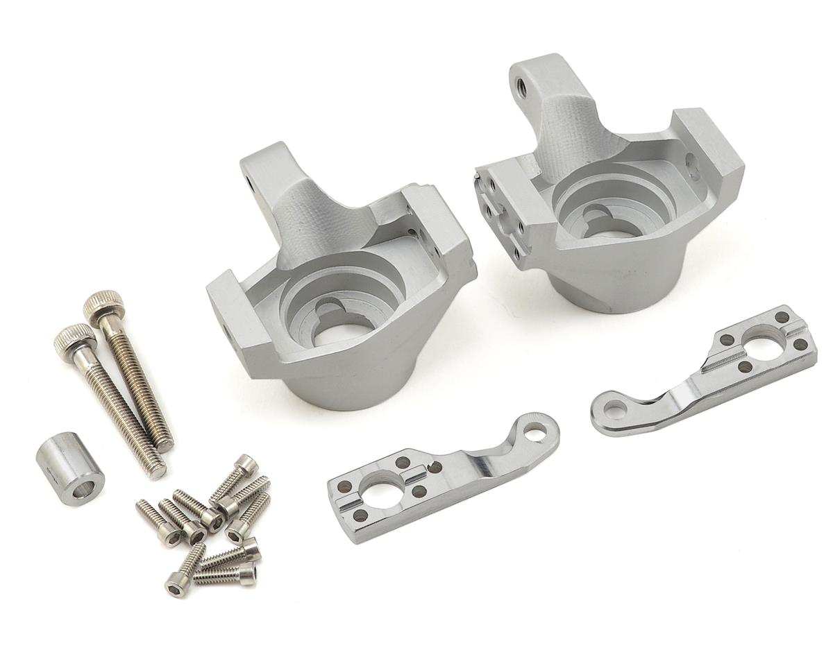 Axial SCX10 II Steering Knuckles (Silver) by Vanquish Products