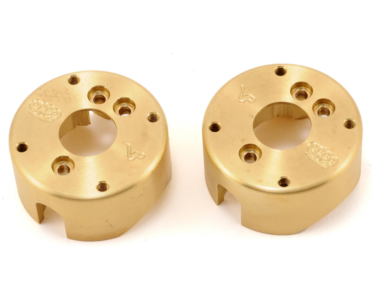 AX10 8 Degree Brass Steering Knuckle Weight Set (2) by Vanquish Products