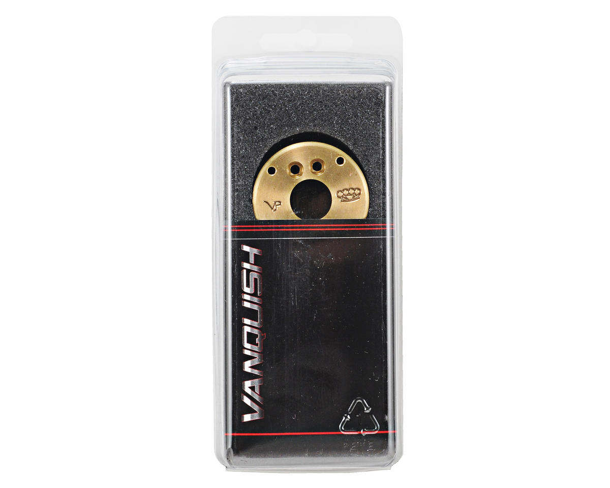 Vanquish Products AX10 8 Degree Brass Steering Knuckle Weight Set (2)