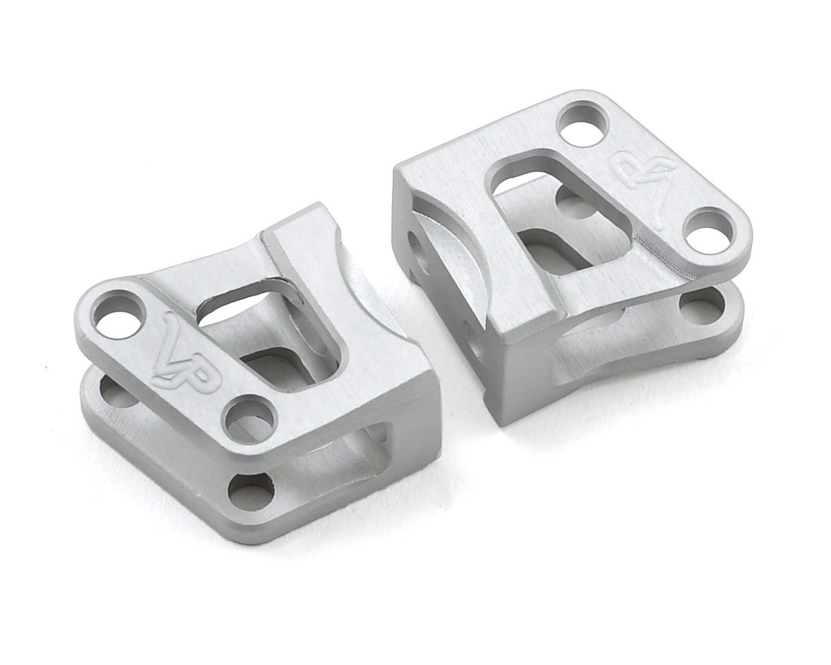 Wraith Lower Shock Link Mount Set (Silver) (2) by Vanquish Products