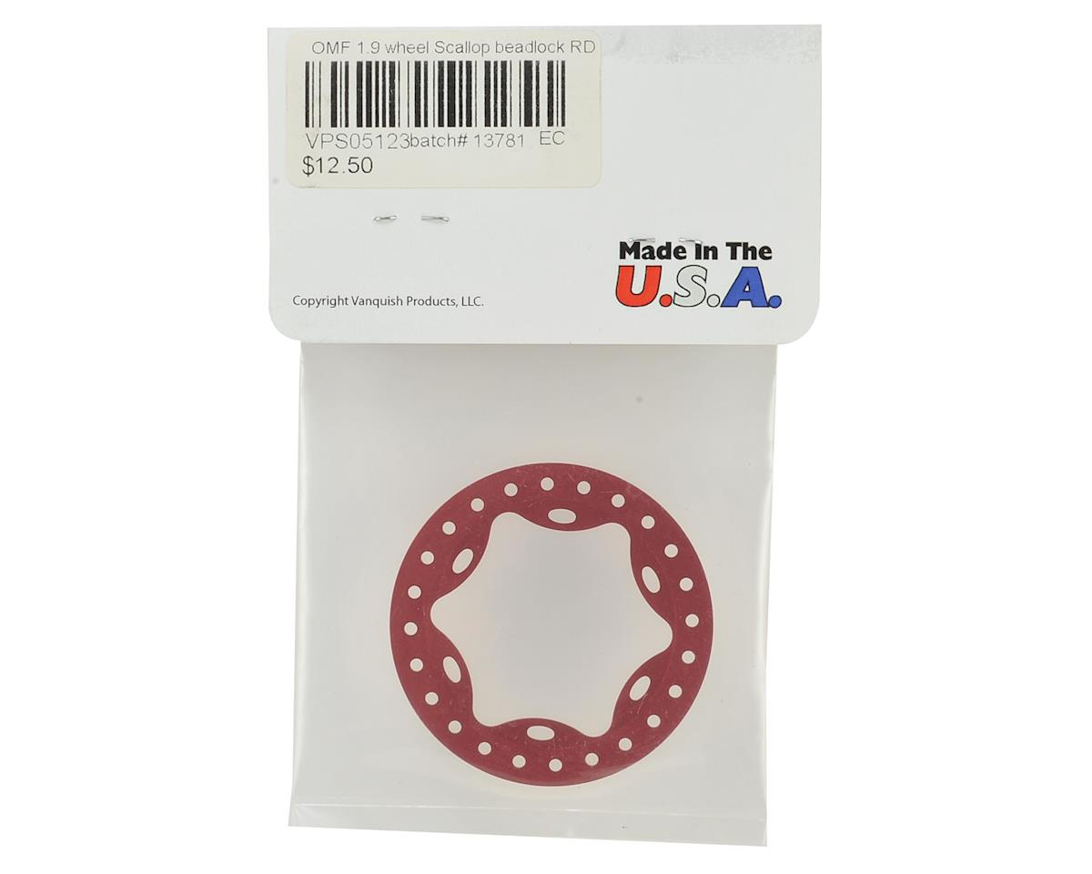 "Vanquish Products OMF 1.9"" Scallop Beadlock Rings (Red)"