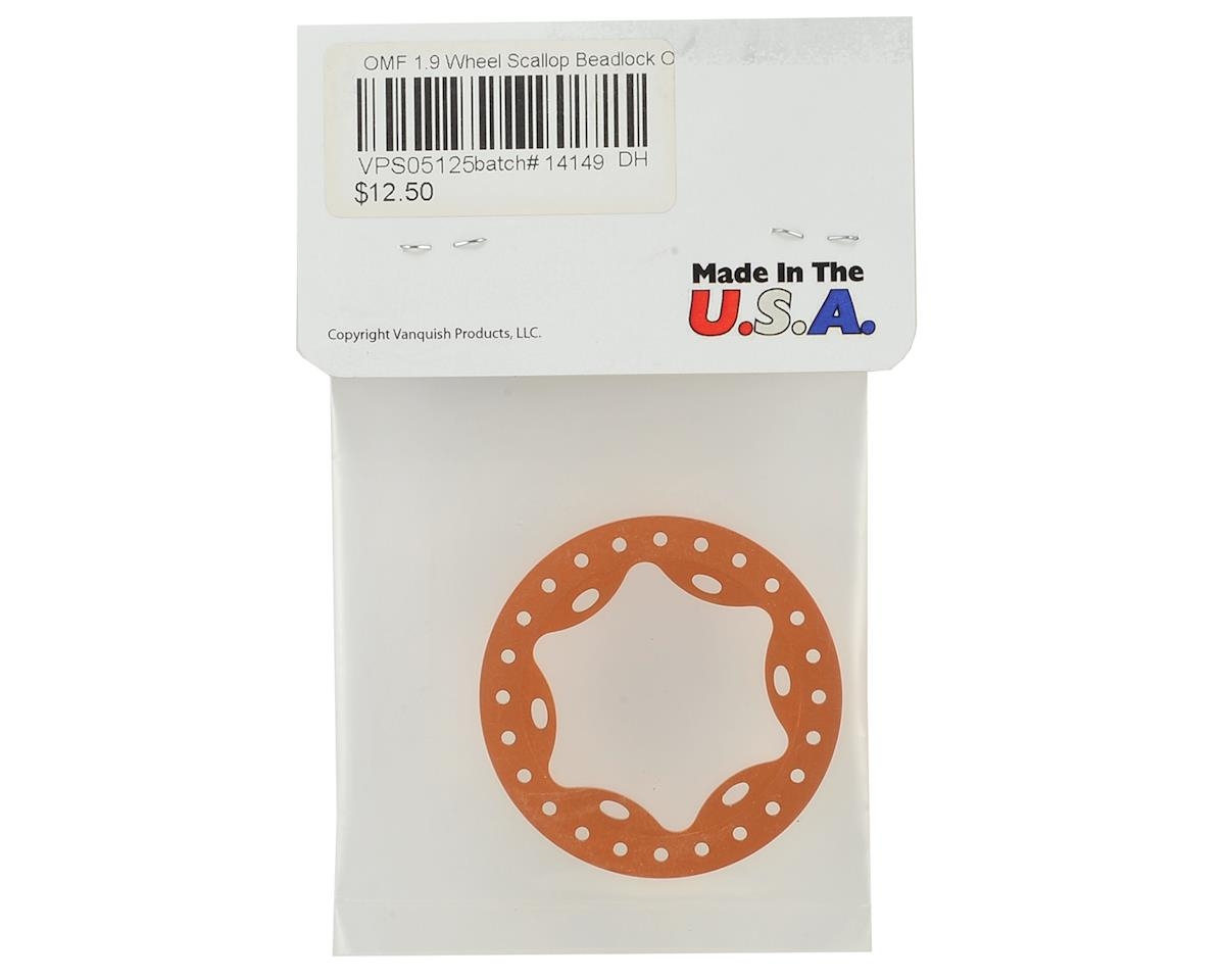 "Vanquish Products OMF 1.9"" Scallop Beadlock Rings (Orange)"