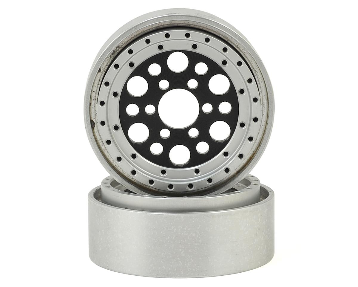 "OMF Outlaw II 1.9"" Beadlock Wheels (Black/Clear) (2) by Vanquish Products"