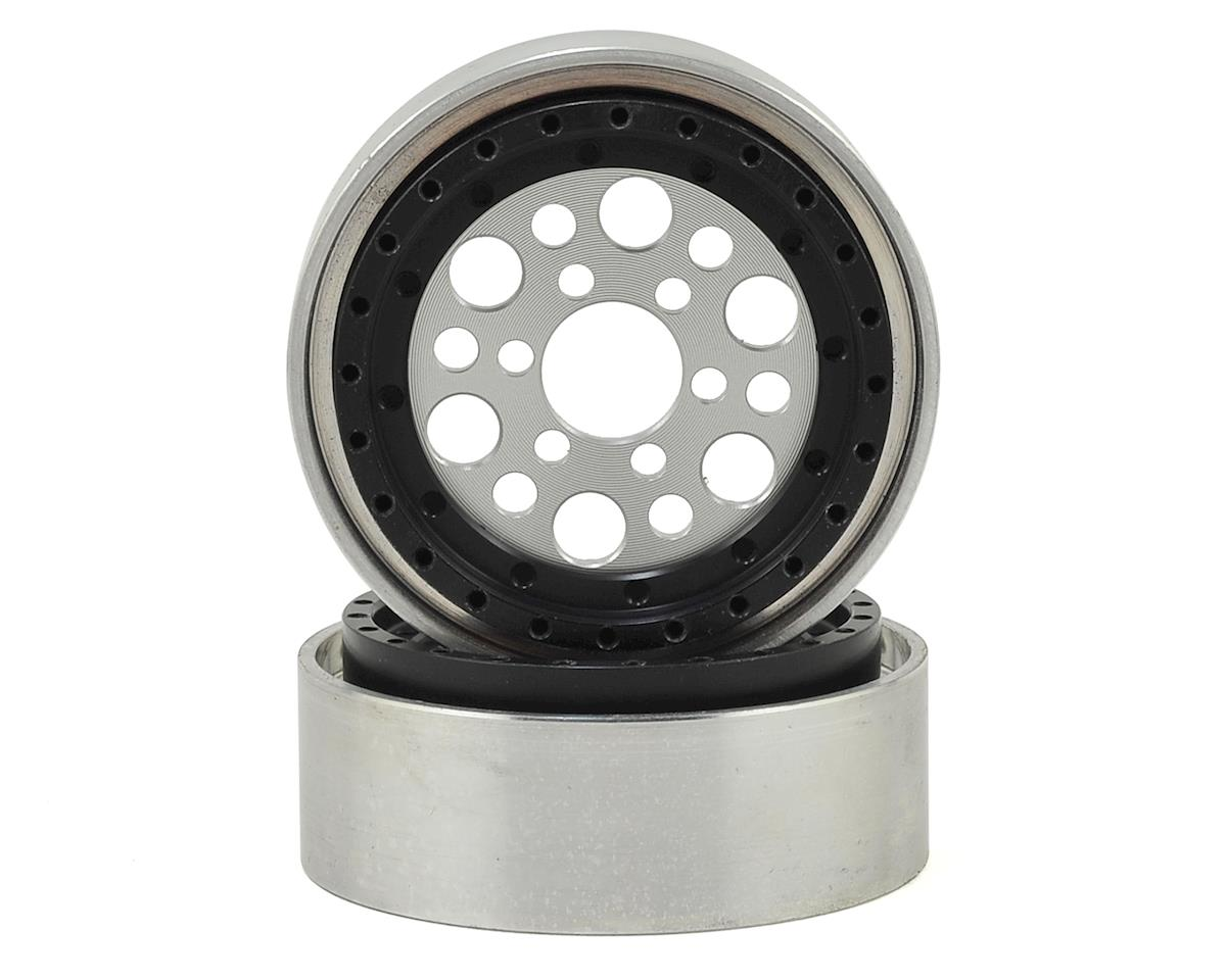"OMF Outlaw II 1.9"" Beadlock Wheels (2) (Clear/Black) by Vanquish Products"