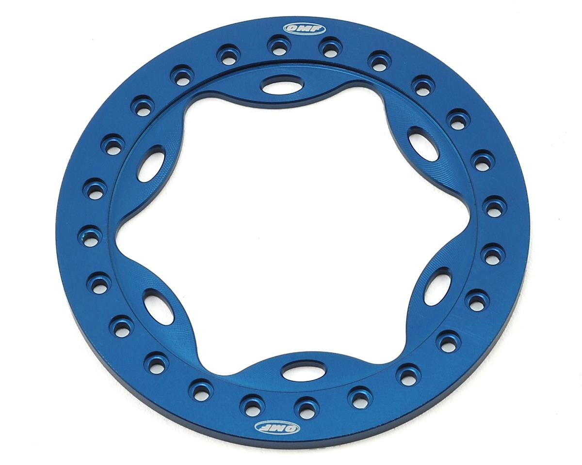 "Vanquish Products OMF 2.2"" Scallop Beadlock (Blue)"