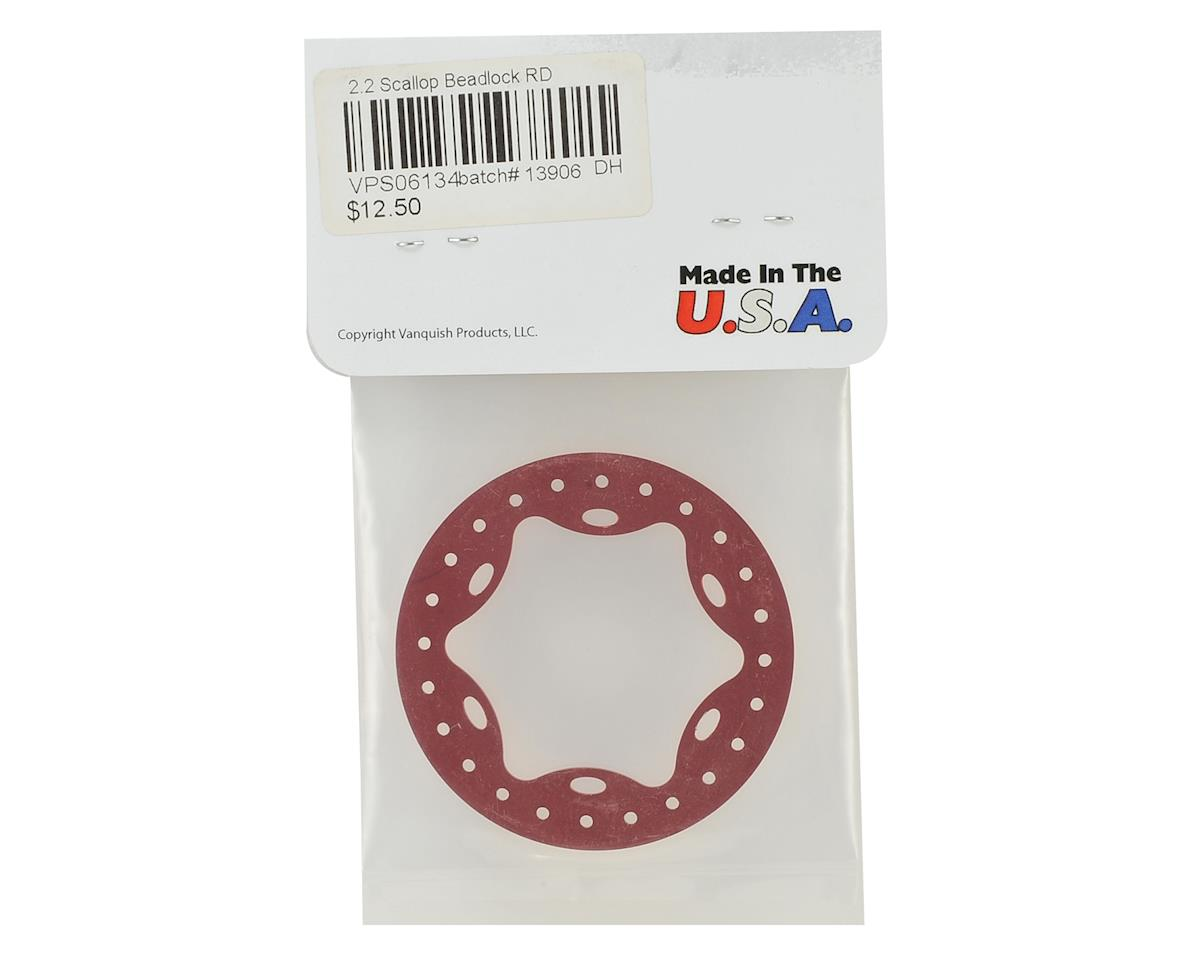 "Vanquish Products OMF 2.2"" Scallop Beadlock (Red)"