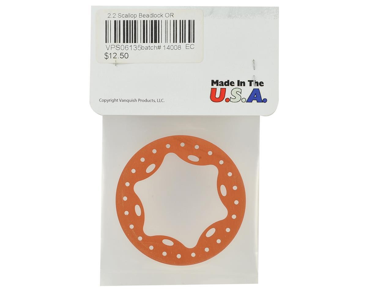 "Vanquish Products OMF 2.2"" Scallop Beadlock (Orange)"