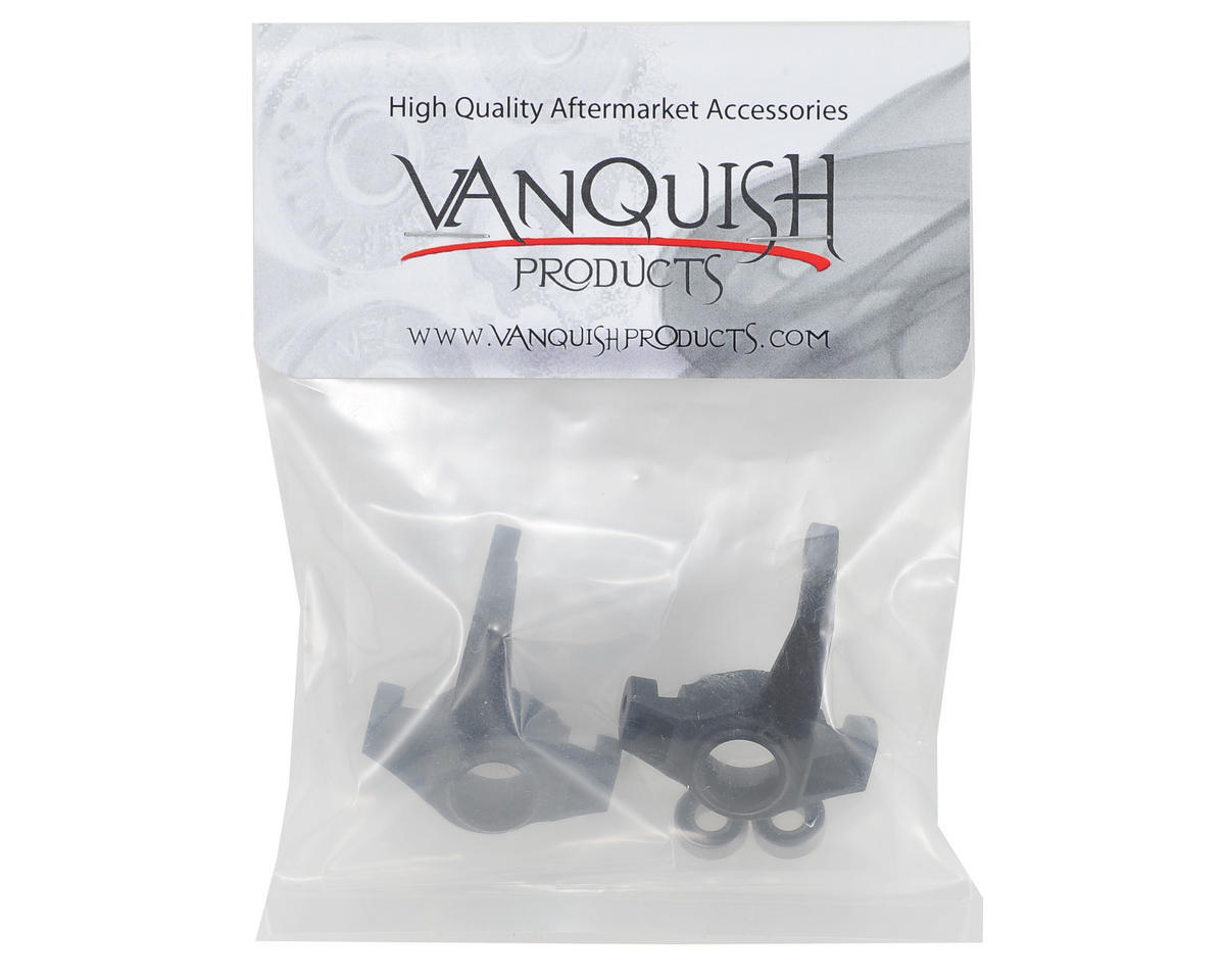 Vanquish Products Aluminum Steering Knuckle Set w/Bearings (2) (Black)