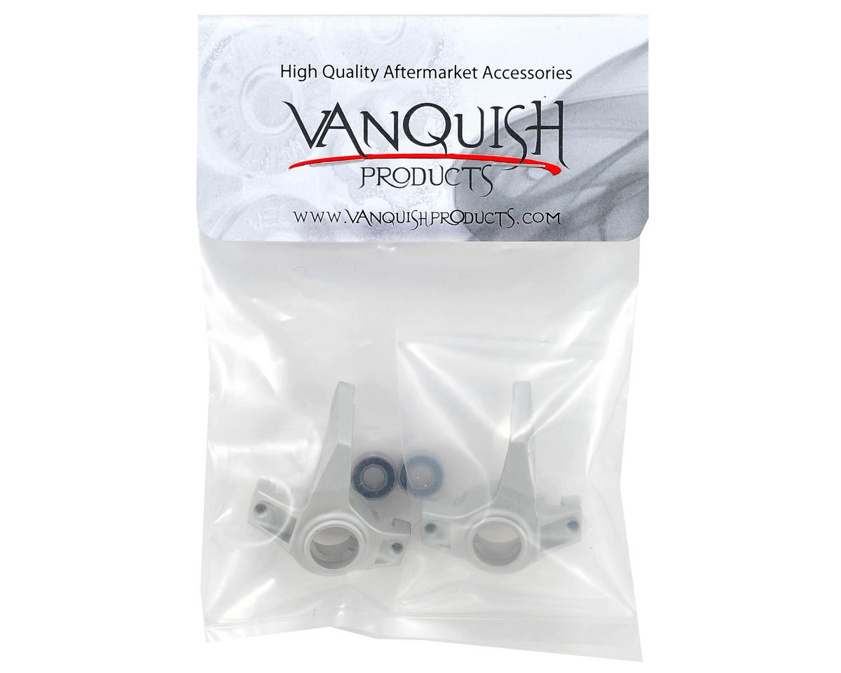 Vanquish Products Aluminum Steering Knuckle Set w/Bearings (2) (Silver)