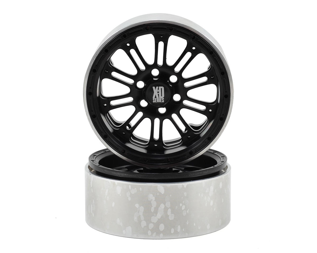 Vanquish Products SLW KMC XD-795 2.2 Aluminum Beadlock Crawler Wheel (2-Black)