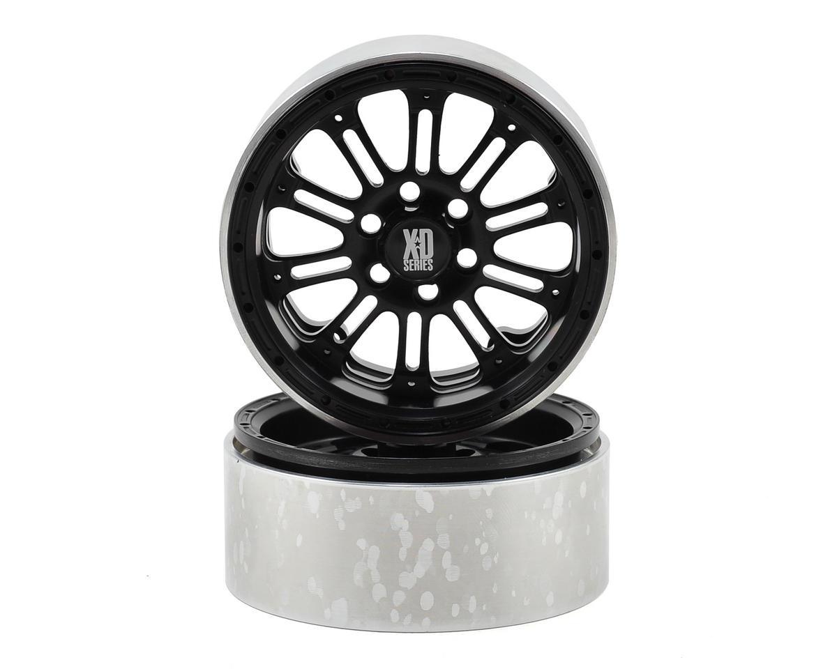 Vanquish Products SLW KMC XD-795 2.2 Aluminum Beadlock Crawler Wheel (2-Black)