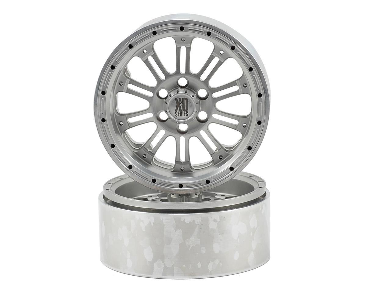 Vanquish Products SLW KMC XD-795 2.2 Aluminum Beadlock Crawler Wheel (2-Silver)