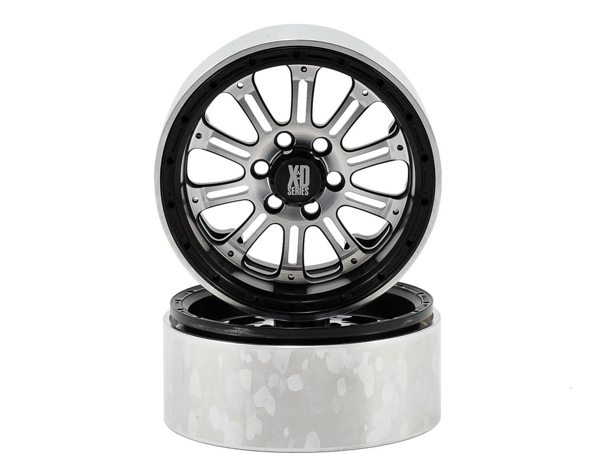 Vanquish Products SLW KMC XD-795 2.2 Beadlock Crawler Wheel (2-Black/Silver)