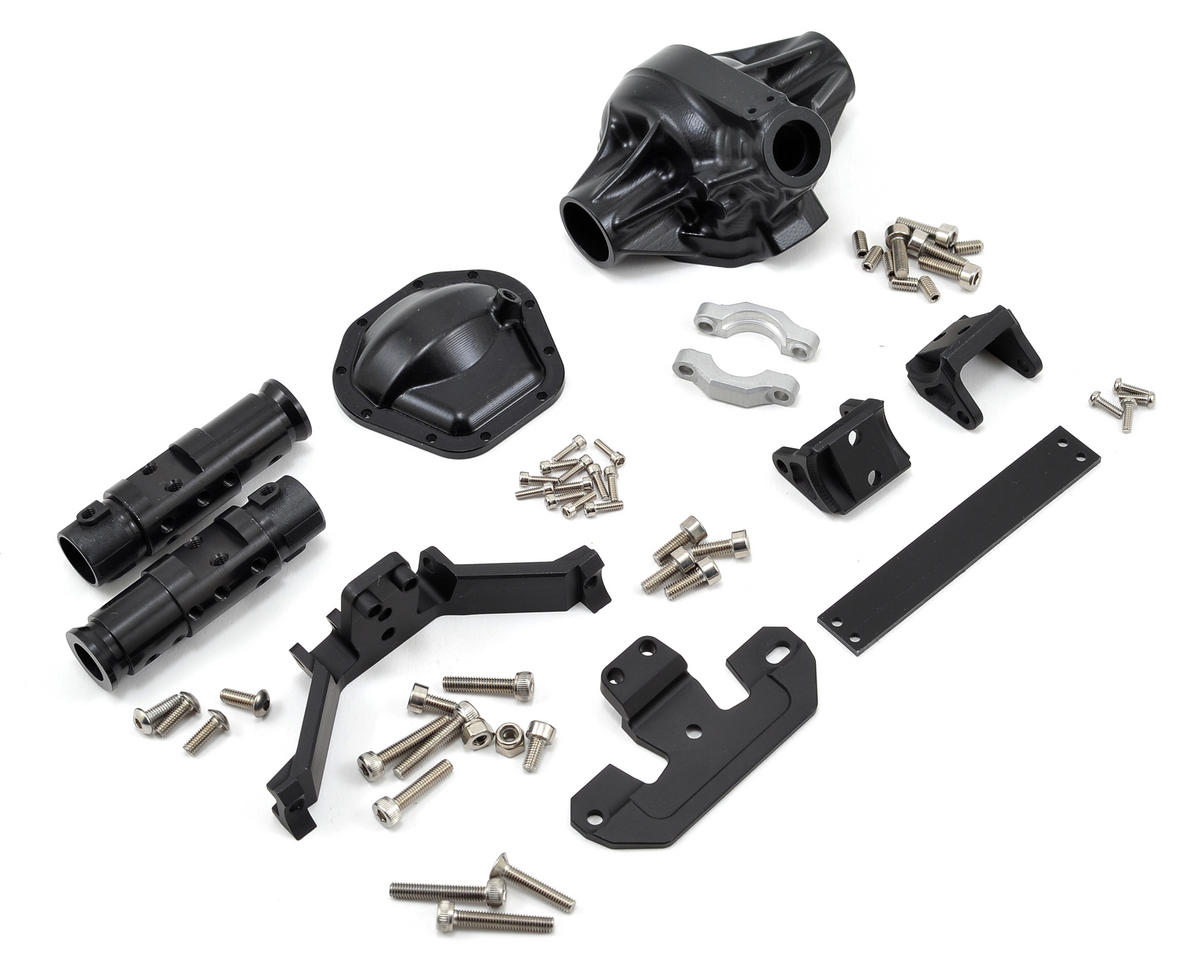 "Vanquish Products ""Currie Rockjock"" SCX10 Front Axle Assembly (Black)"