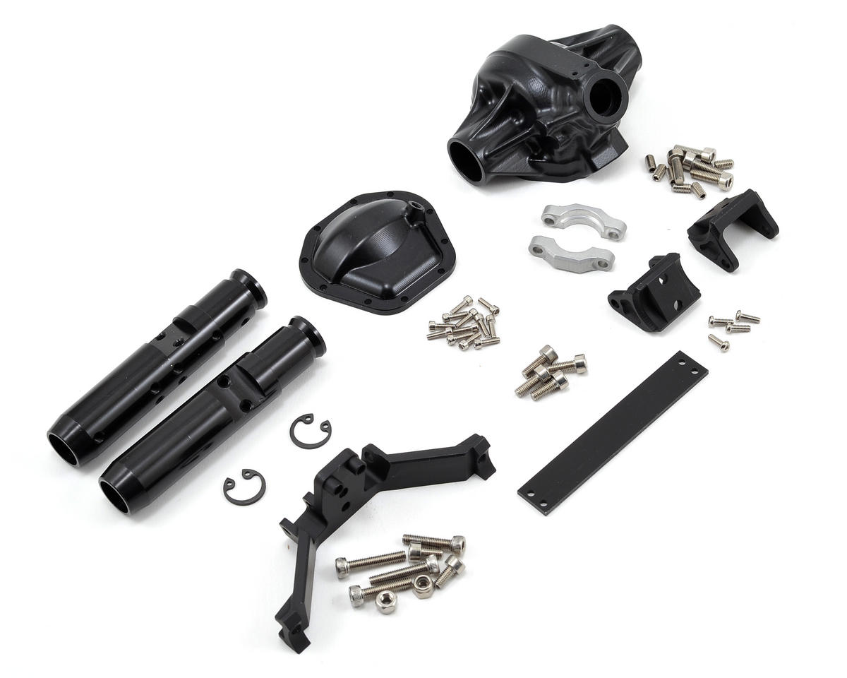"Vanquish Products ""Currie Rockjock"" SCX10 Rear Axle Assembly (Black) (Vaterra Twin Hammers)"