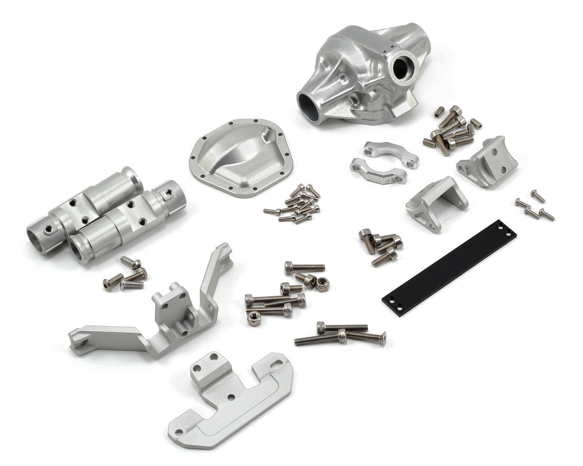"Vanquish Products ""Currie Rockjock"" SCX10 Front Axle Assembly (Silver) (Vaterra Twin Hammers)"