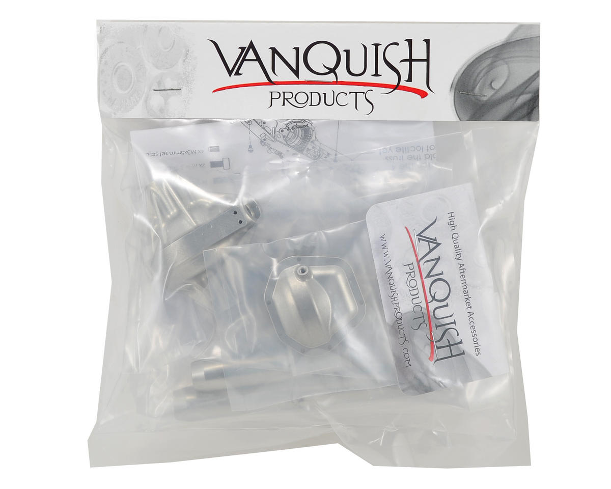 "Vanquish Products ""Currie Rockjock"" Wraith Rear Axle (Silver)"