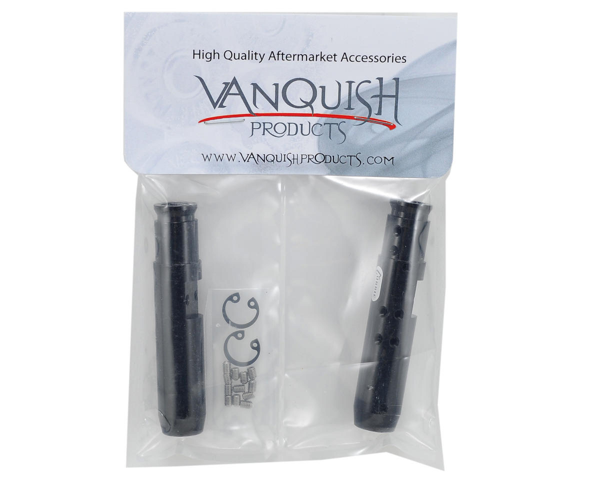 """""""Currie Rockjock"""" SCX10 Rear Tubes (Black) by Vanquish Products"""