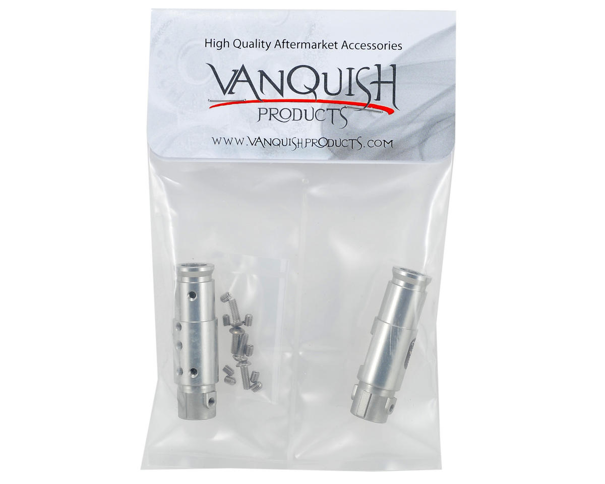 """Currie Rockjock"" SCX10 Front Tubes (Silver) by Vanquish Products"