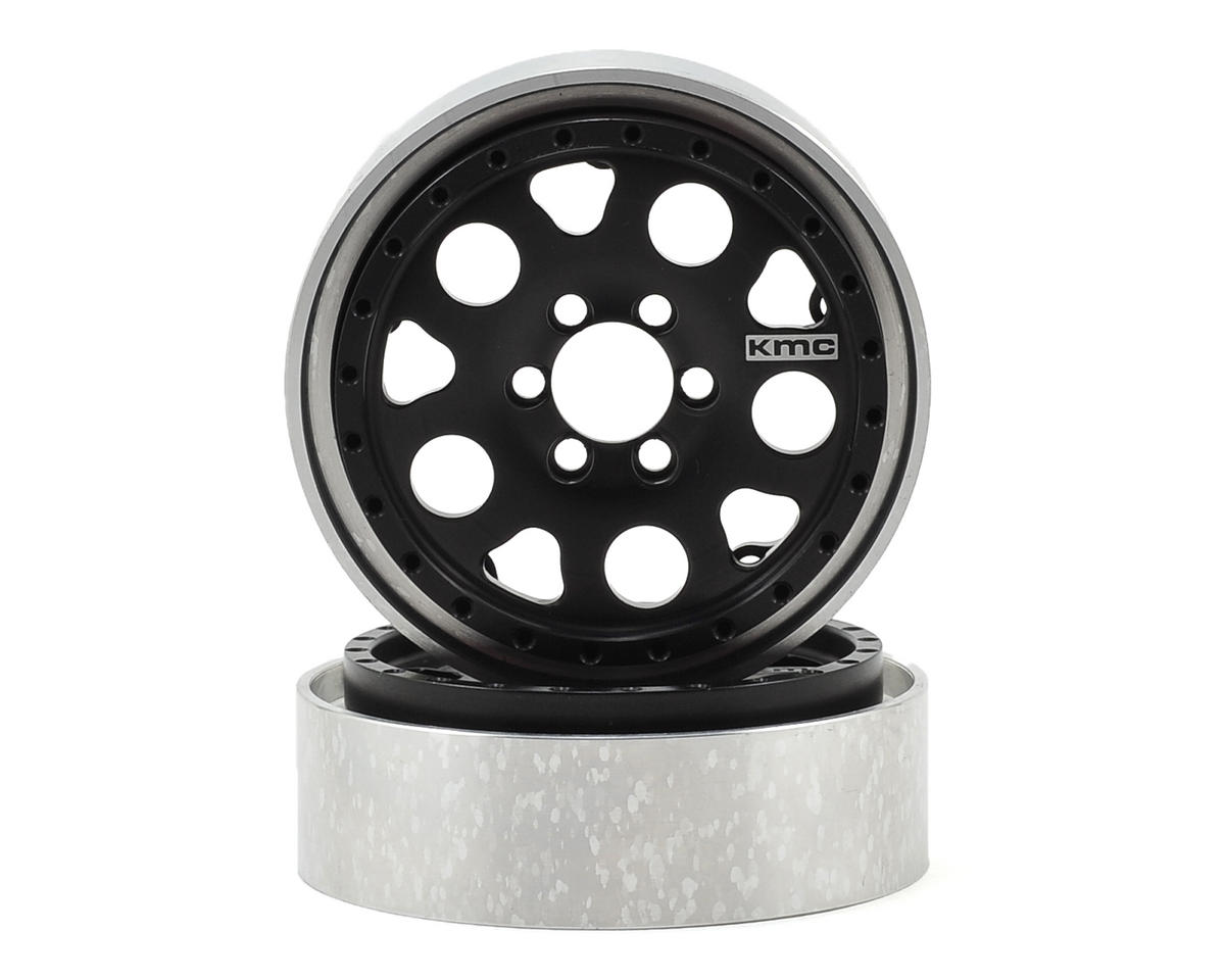 KMC Enduro 2.2 Aluminum Beadlock Crawler Wheel (2-Black) by Vanquish Products