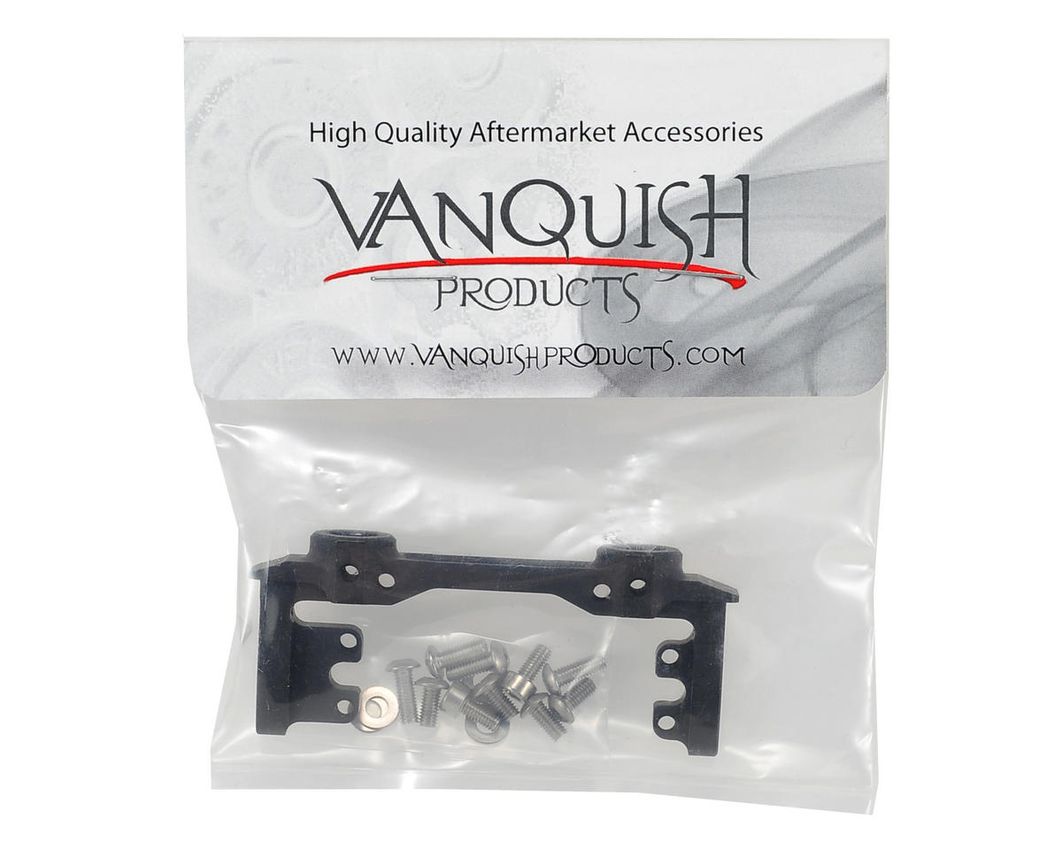 Vanquish Products SCX10 Front Bumper & Servo Mount (Black)