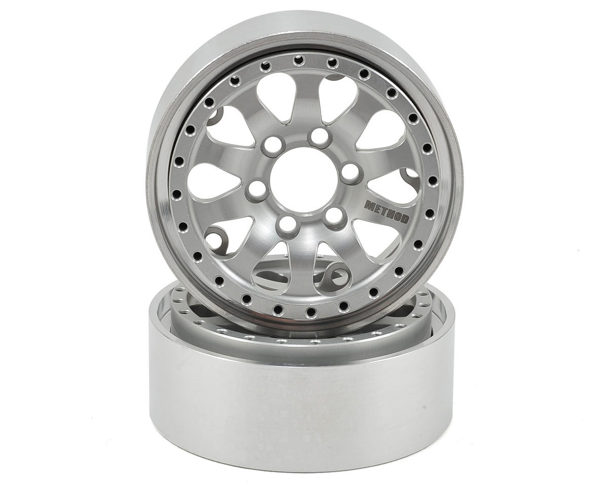 Vanquish Products Method 101 1.9 Aluminum Beadlock Crawler Wheel 2-Silver/Black