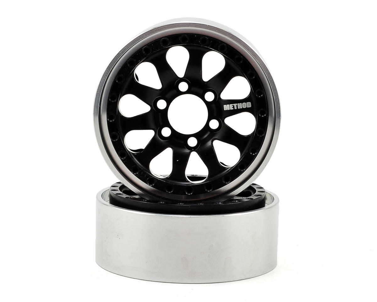 Vanquish Products Method 101 1.9 Aluminum Beadlock Crawler Wheel 2-Black/Silver