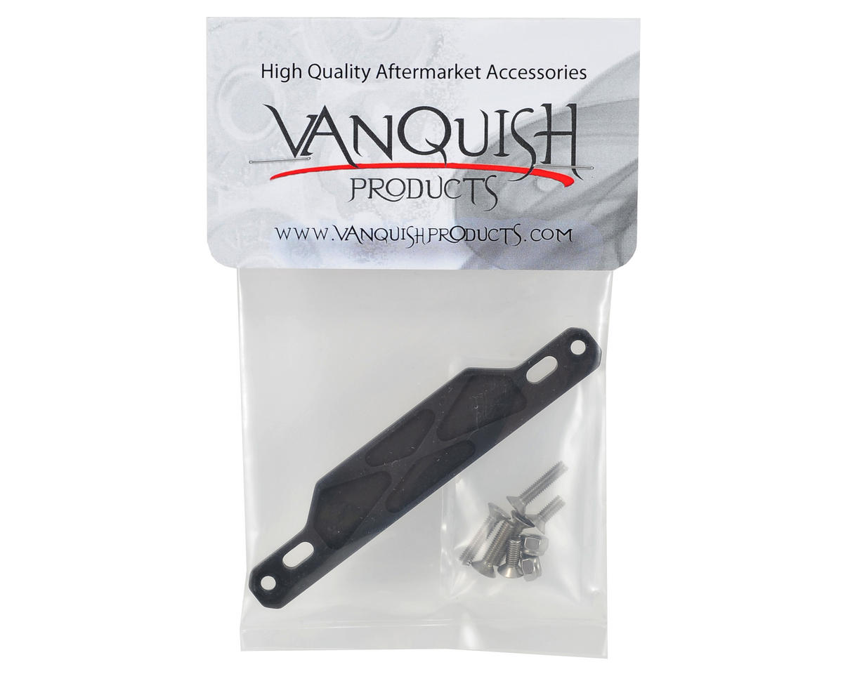 Vanquish Products SCX10 Side Rail Electronic Tray Plate (Black)