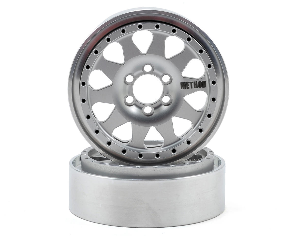 Vanquish Products Method 101 2.2 Aluminum Beadlock Crawler Wheel 2-Silver/Black