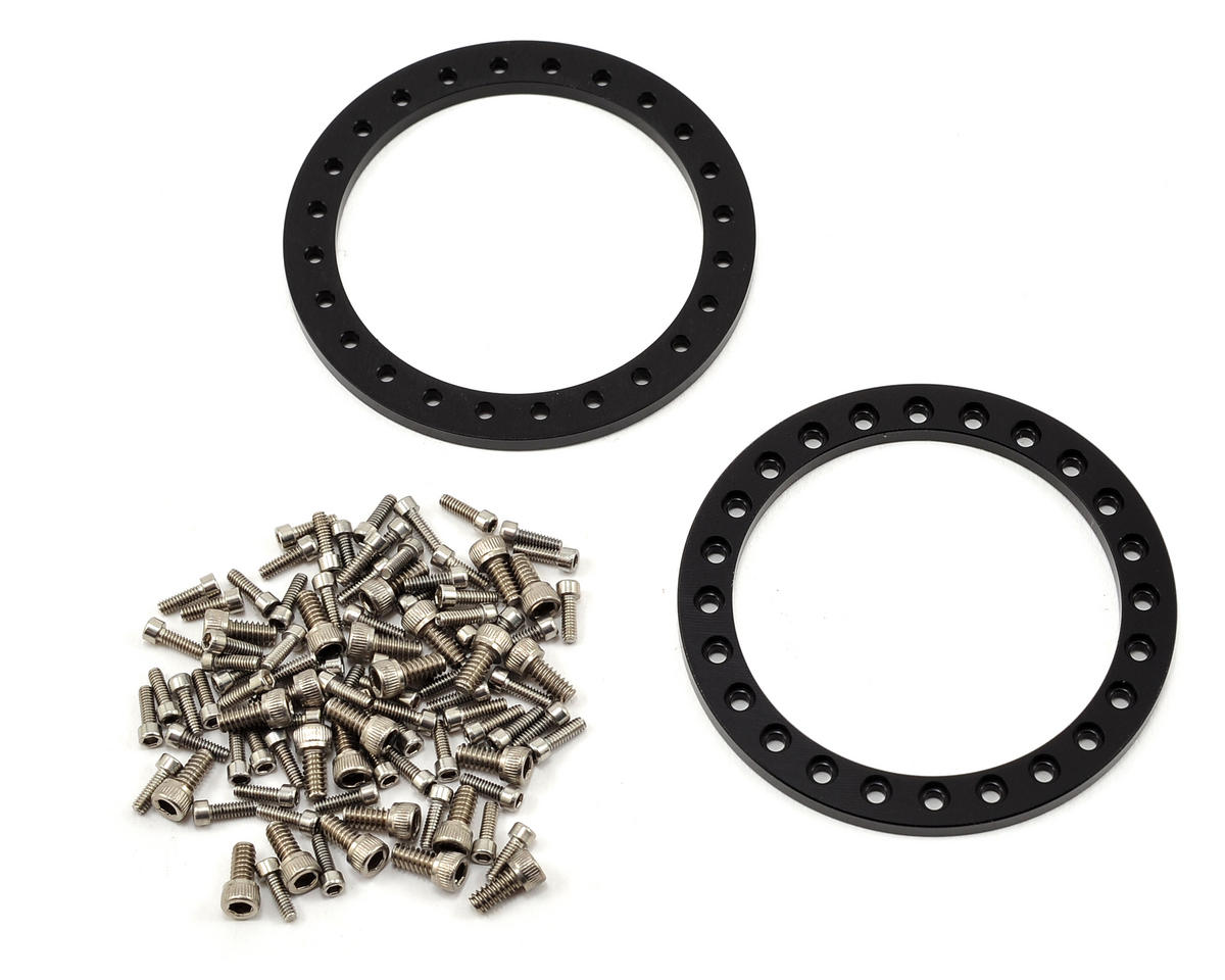 Vanquish Products Method 101 2.2 Aluminum Beadlock Crawler Wheel (2-Red/Black)