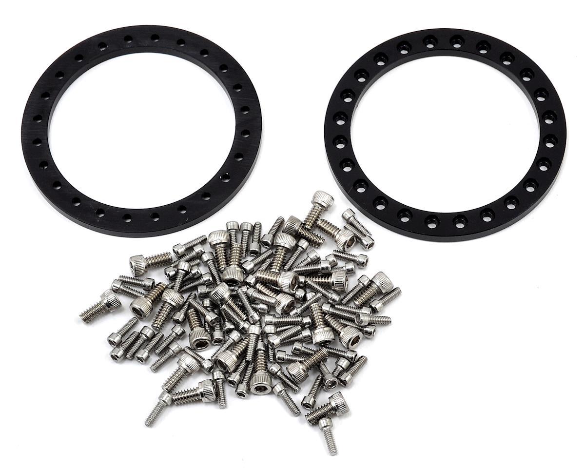 Vanquish Products KMC Enduro XD-222 1.9 Beadlock Wheels (2) (Black)