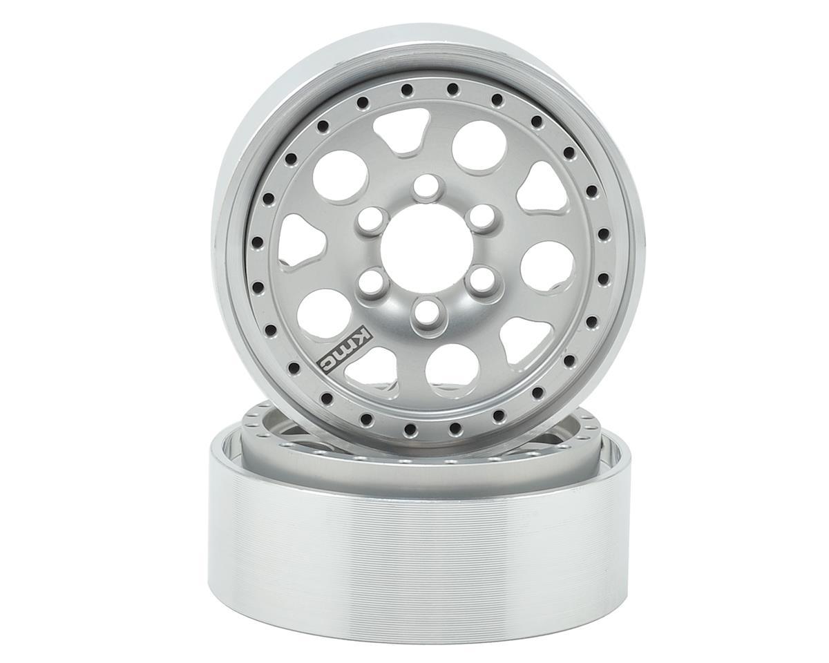 Vanquish Products KMC Enduro XD-222 1.9 Beadlock Wheels (2) (Silver)