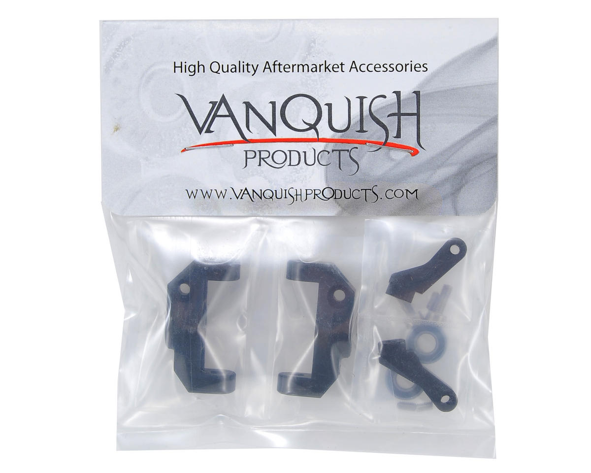 Vanquish Products Vaterra Twin Hammers HD Aluminum Steering Knuckles (Black) (2)
