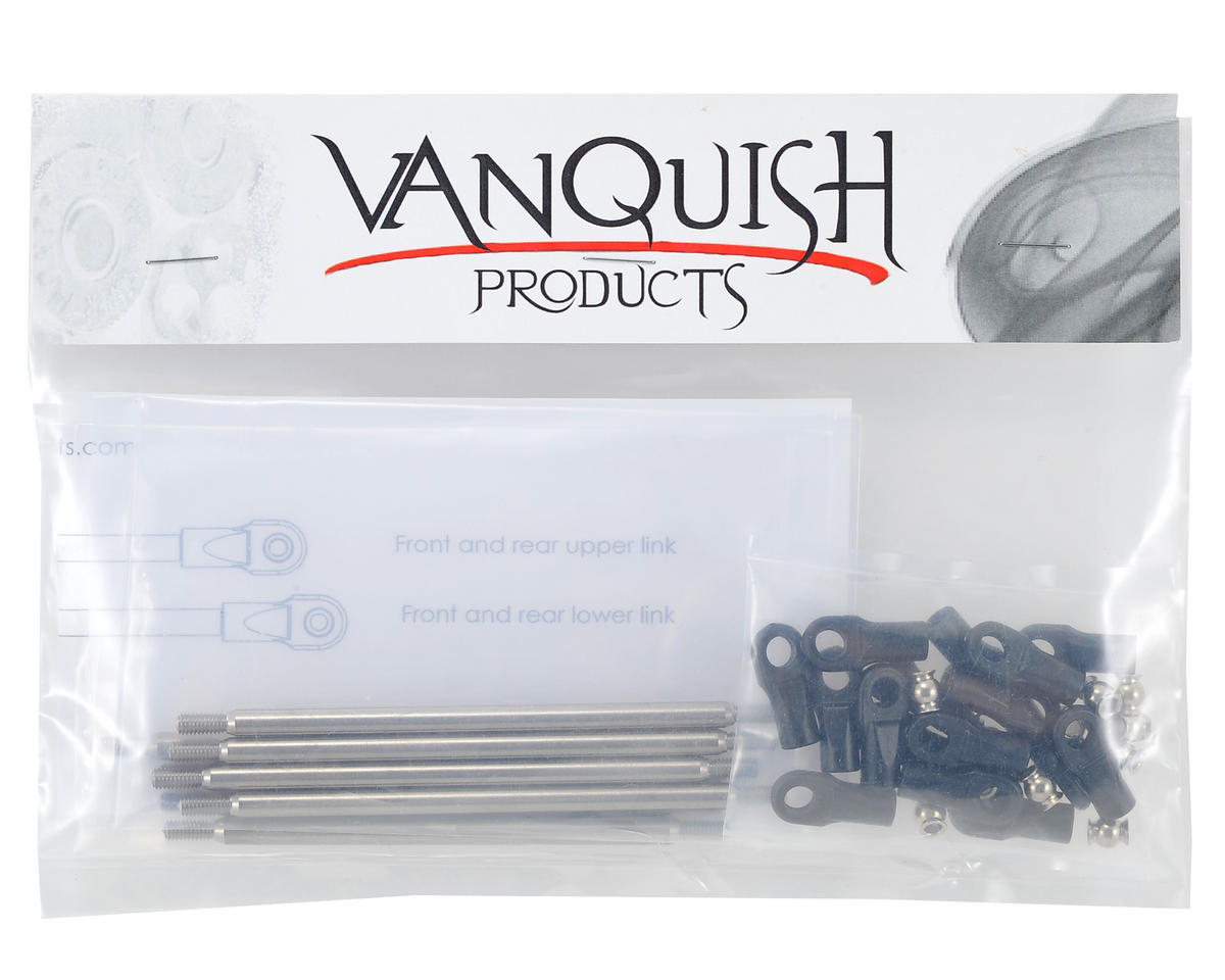 "Vanquish Products SCX10 G6 12"" Wheelbase Titanium Link Set (8)"