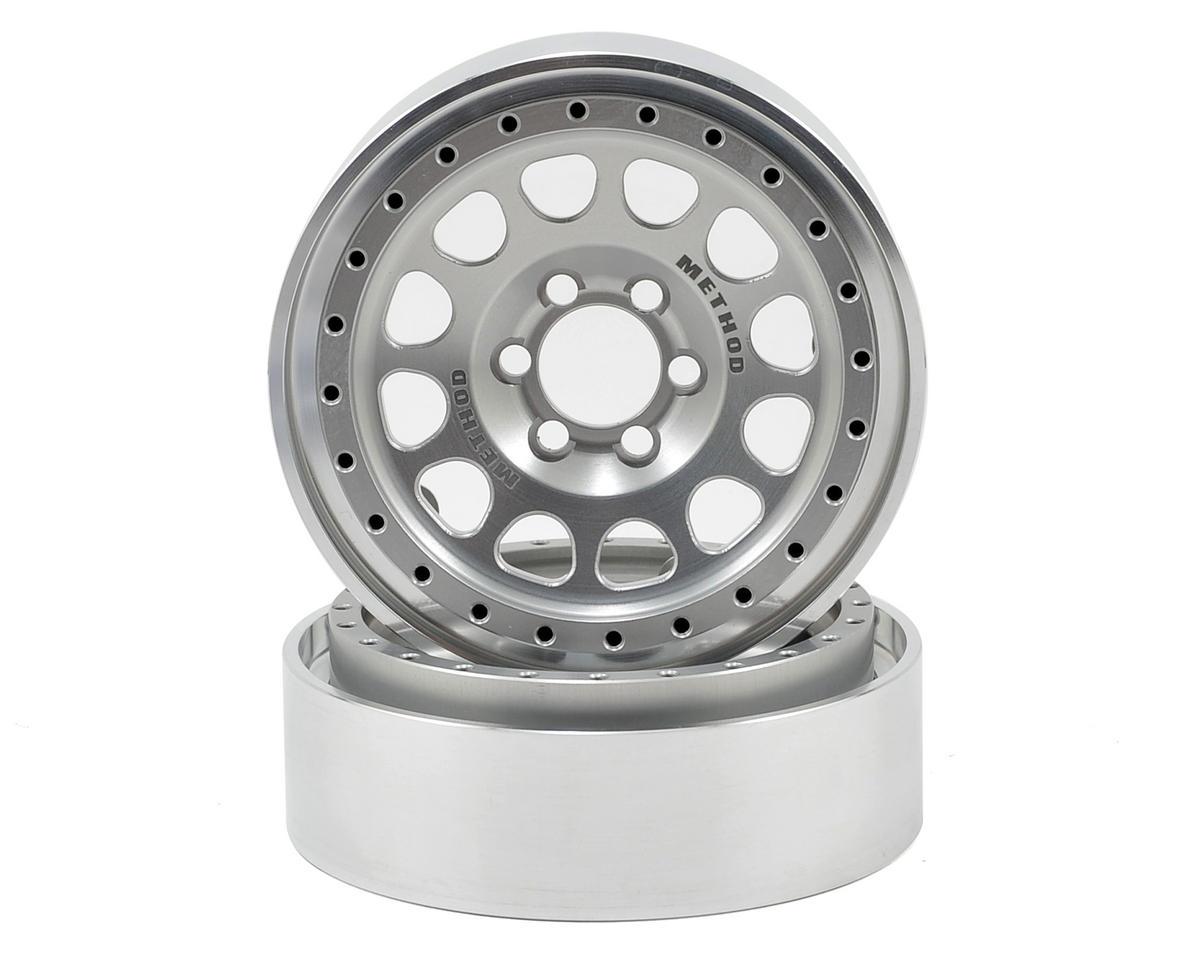 Vanquish Products Method 105 2.2 Aluminum Beadlock Crawler Wheel (2-Silver)