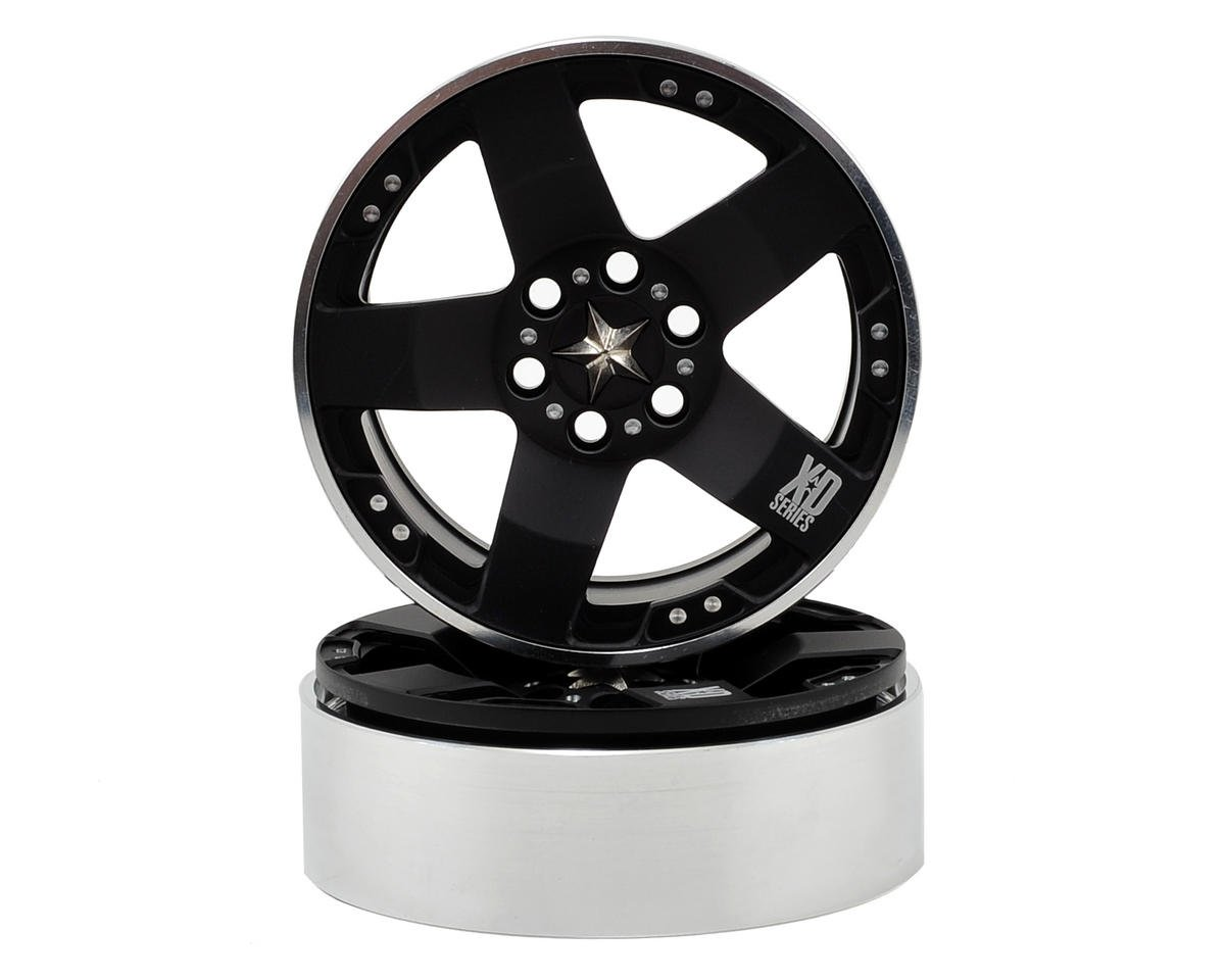 Vanquish Products KMC Rockstars 2.2 Aluminum Beadlock Crawler Wheel (2-Black)