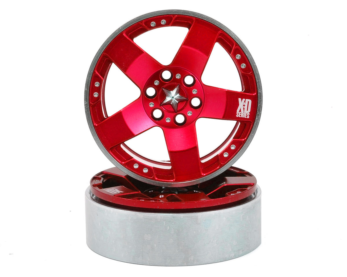 "Vanquish Products KMC Rockstars 2.2"" Beadlock Wheels (2) (Red)"