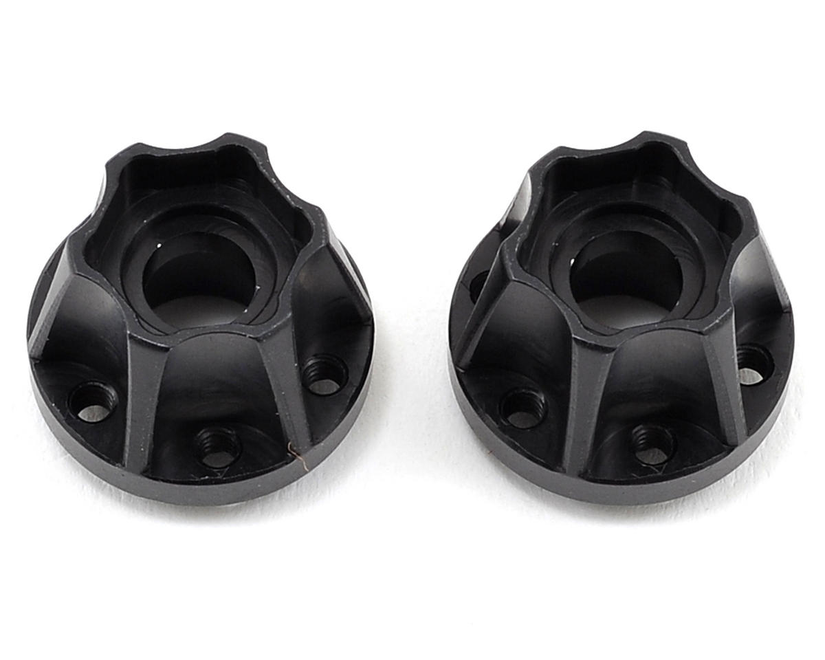 "Vanquish Products 2.2"" Aluminum SLW 600 Hex Hub (Black) (2)"