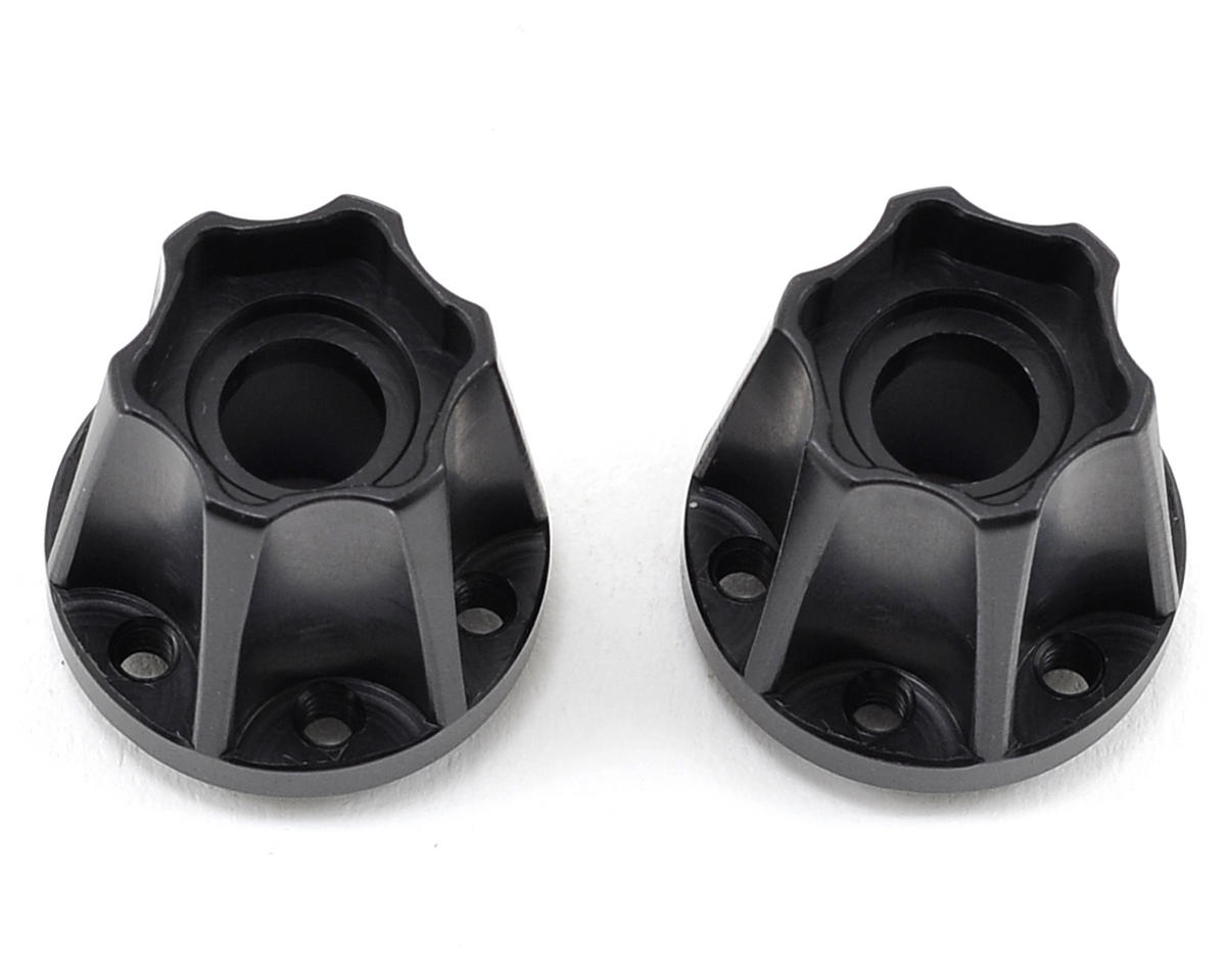 "2.2"" Aluminum SLW 850 Hex Hub (Black) (2) by Vanquish Products"