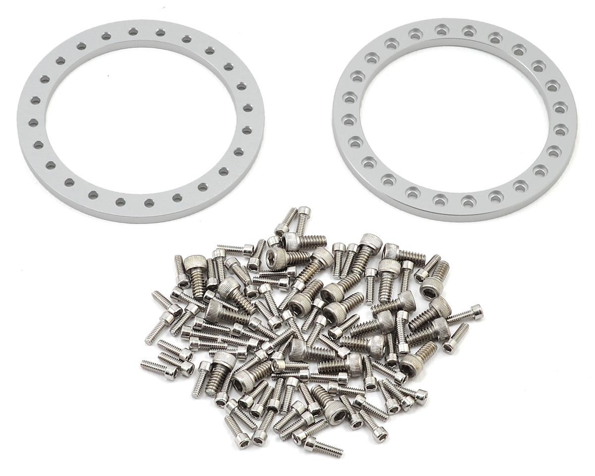 Vanquish Products 8-Hole Shooter 1.9 Aluminum Beadlock Crawler Wheel (2-Silver)