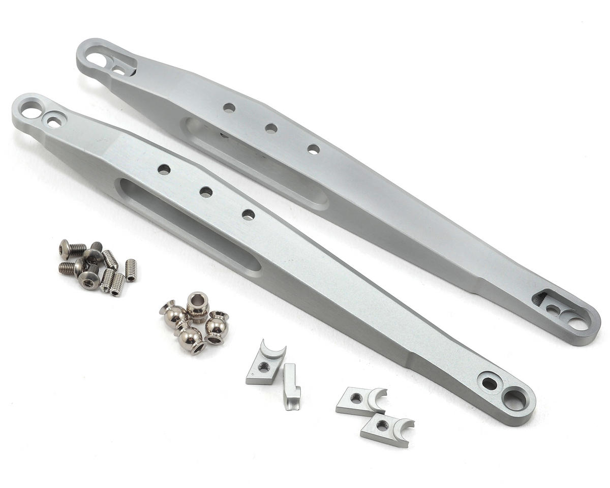 Vanquish Products Yeti Trailing Arm (2) (Silver) (Axial RR10 Bomber)