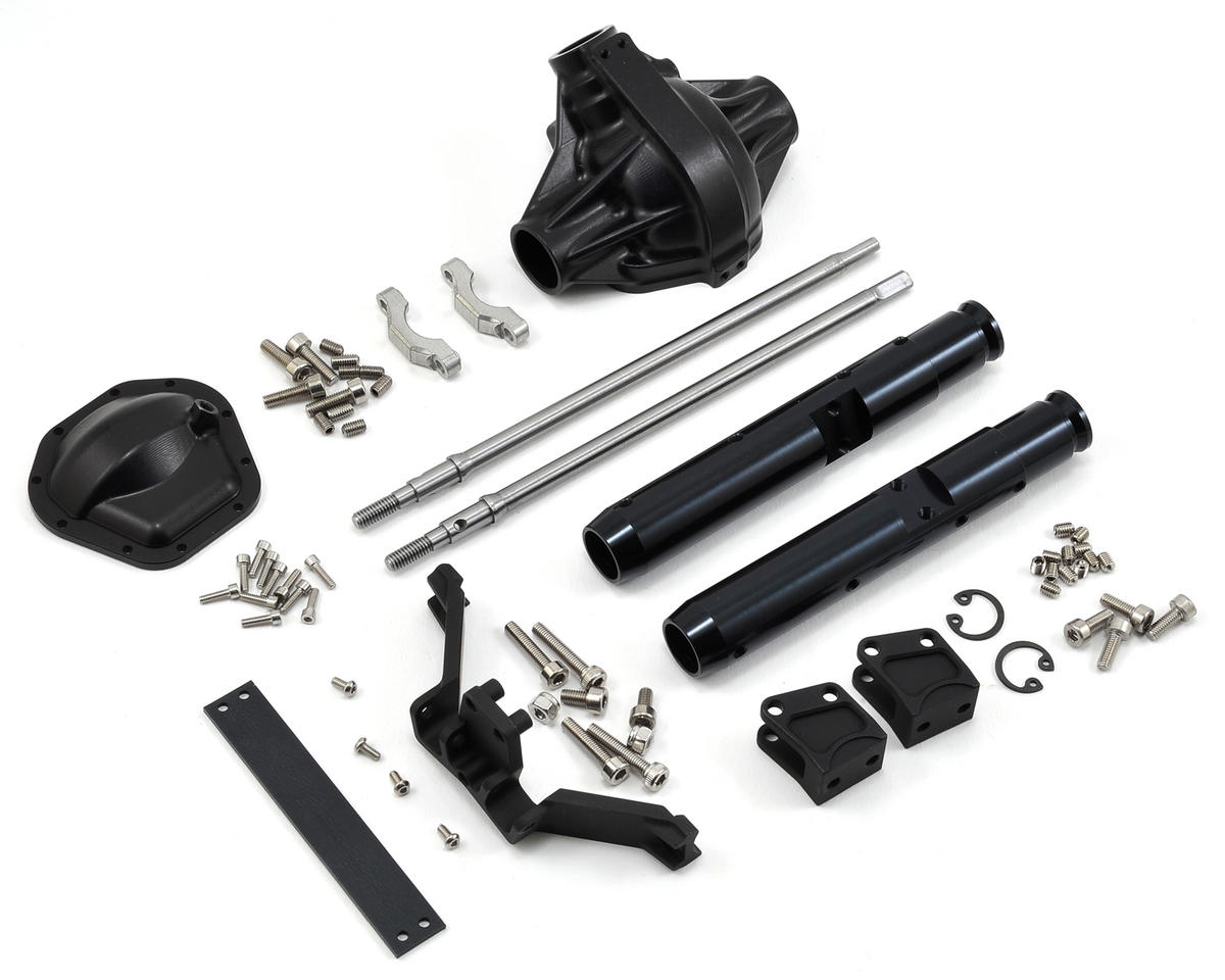 Vanquish Products Wraith/Yeti Centered Pumpkin Rear Currie Axle (Black)