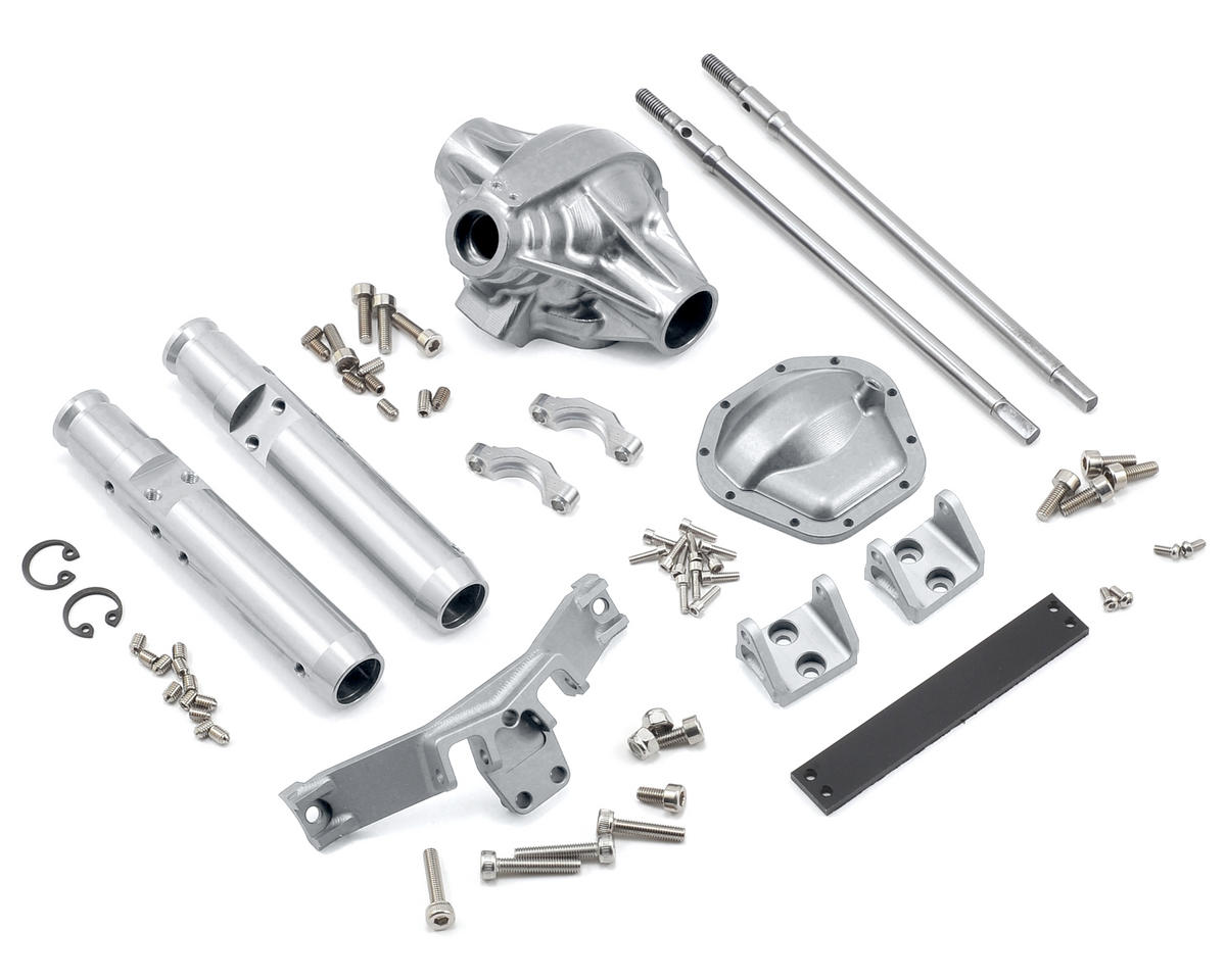 "Vanquish Products ""Currie Rockjock"" XR10 Width Rear Axle (Silver)"