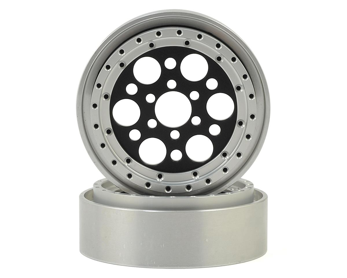 "Vanquish Products OMF Outlaw II 2.2"" Beadlock Wheels (2) (Black/Clear)"