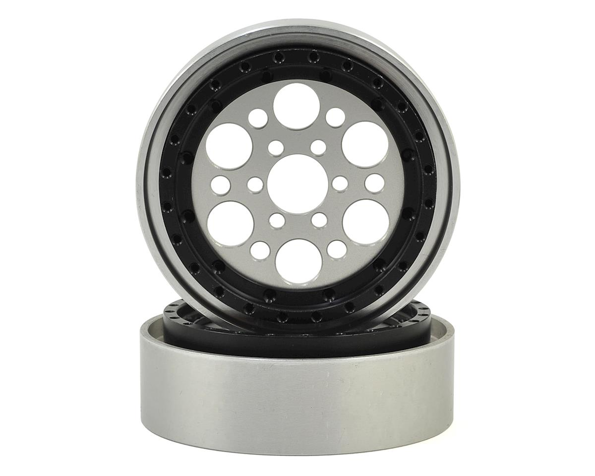 "Vanquish Products OMF Outlaw II 2.2"" Beadlock Wheels (2) (Clear/Black)"