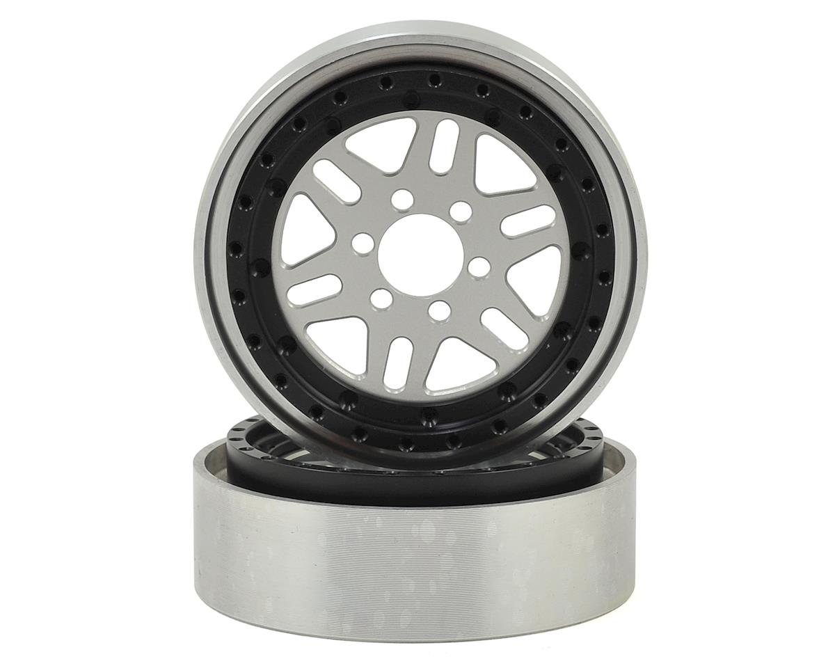 OMF NXG1 2.2 Wheels (Silver/Black) (2) by Vanquish Products