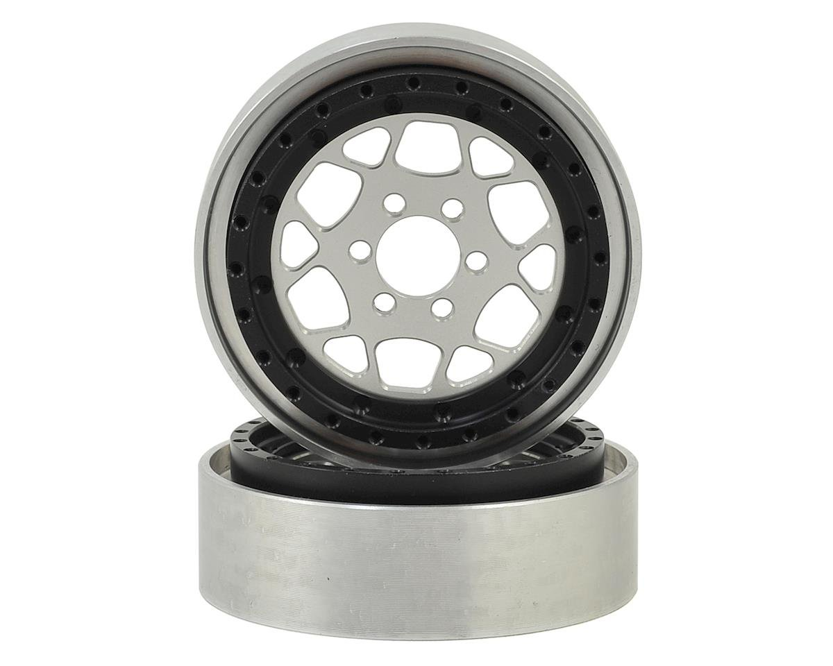 "Vanquish Products OMF Type R 2.2"" Beadlock Wheels (2) (Clear/Black)"