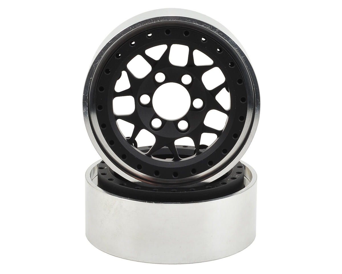 KMC XD127 Bully 1.9 Aluminum Beadlock Crawler Wheel (2-Black) by Vanquish Products