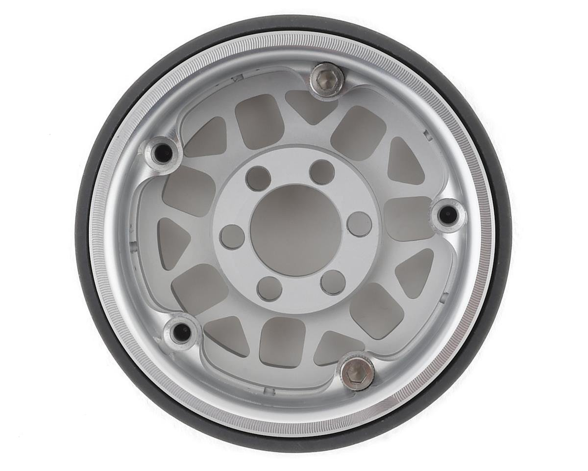 Vanquish Products KMC XD127 Bully 1.9 Aluminum Beadlock Crawler Wheel (2-Silver)