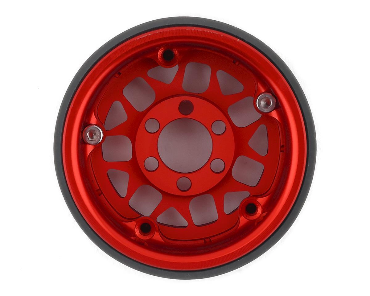 Vanquish Products KMC XD127 Bully 1.9 Beadlock Wheels (2) (Red)